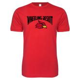 Next Level SoftStyle Red T Shirt-Wheeling Jesuit