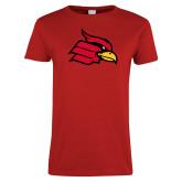 Ladies Red T Shirt-Cardinal