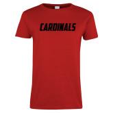 Ladies Red T Shirt-Cardinals