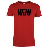Ladies Red T Shirt-WJU