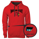 Contemporary Sofspun Red Hoodie-Wheeling Jesuit