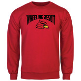 Red Fleece Crew-Wheeling Jesuit