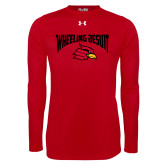 Under Armour Red Long Sleeve Tech Tee-Wheeling Jesuit