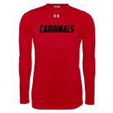 Under Armour Red Long Sleeve Tech Tee-Cardinals