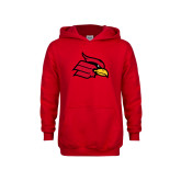 Youth Red Fleece Hoodie-Cardinal