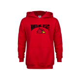 Youth Red Fleece Hoodie-Wheeling Jesuit
