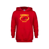 Youth Red Fleece Hoodie-Rugby