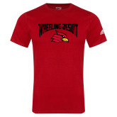 Adidas Red Logo T Shirt-Wheeling Jesuit