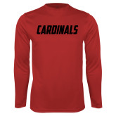 Syntrel Performance Red Longsleeve Shirt-Cardinals