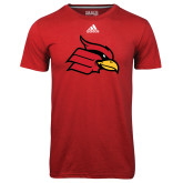Adidas Climalite Red Ultimate Performance Tee-Primary Mark