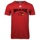 Adidas Climalite Red Ultimate Performance Tee-Wheeling Jesuit