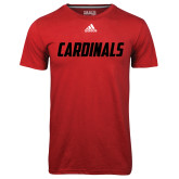 Adidas Climalite Red Ultimate Performance Tee-Cardinals