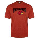 Performance Red Heather Contender Tee-Wheeling Jesuit