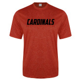 Performance Red Heather Contender Tee-Cardinals