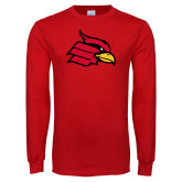 Red Long Sleeve T Shirt-Cardinal