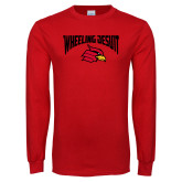 Red Long Sleeve T Shirt-Wheeling Jesuit