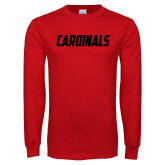 Red Long Sleeve T Shirt-Cardinals