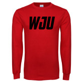 Red Long Sleeve T Shirt-WJU