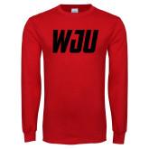 Red Long Sleeve T Shirt-WJU