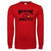 Red Long Sleeve T Shirt-Wheeling Jesuit Athletics