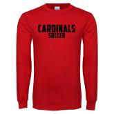 Red Long Sleeve T Shirt-Soccer