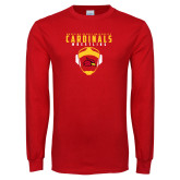 Red Long Sleeve T Shirt-Wrestling