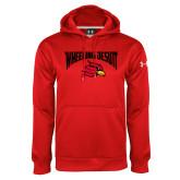 Under Armour Red Performance Sweats Team Hoodie-Wheeling Jesuit