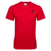 Red T Shirt w/Pocket-Cardinal