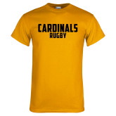 Gold T Shirt-Rugby