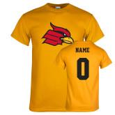 Gold T Shirt-Cardinal, Custom Tee w/ Name and #