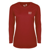 Ladies Syntrel Performance Cardinal Longsleeve Shirt-Wheeling Jesuit University