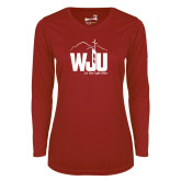 Ladies Syntrel Performance Cardinal Longsleeve Shirt-WJU