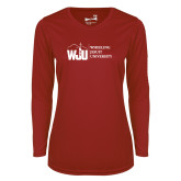 Ladies Syntrel Performance Cardinal Longsleeve Shirt-WJU