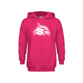 Youth Raspberry Fleece Hoodie-Cardinal