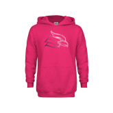 Youth Raspberry Fleece Hoodie-Cardinal  Foil