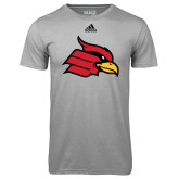 Adidas Climalite Sport Grey Ultimate Performance Tee-Cardinal