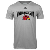 Adidas Climalite Sport Grey Ultimate Performance Tee-Wheeling Jesuit