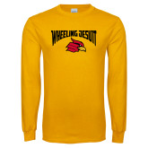 Gold Long Sleeve T Shirt-Wheeling Jesuit