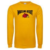 Gold Long Sleeve T Shirt-Wheeling Jesuit