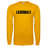 Gold Long Sleeve T Shirt-Cardinals