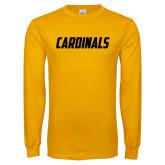 Gold Long Sleeve T Shirt-Cardinals