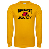 Gold Long Sleeve T Shirt-Wheeling Jesuit Athletics