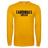 Gold Long Sleeve T Shirt-Soccer