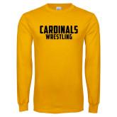 Gold Long Sleeve T Shirt-Wrestling