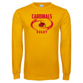 Gold Long Sleeve T Shirt-Rugby