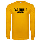 Gold Long Sleeve T Shirt-Grandpa
