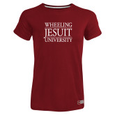 Ladies Russell Cardinal Essential T Shirt-Wheeling Jesuit University