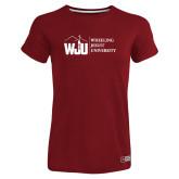 Ladies Russell Cardinal Essential T Shirt-WJU