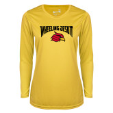 Ladies Syntrel Performance Gold Longsleeve Shirt-Wheeling Jesuit