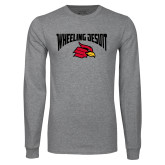 Grey Long Sleeve T Shirt-Wheeling Jesuit